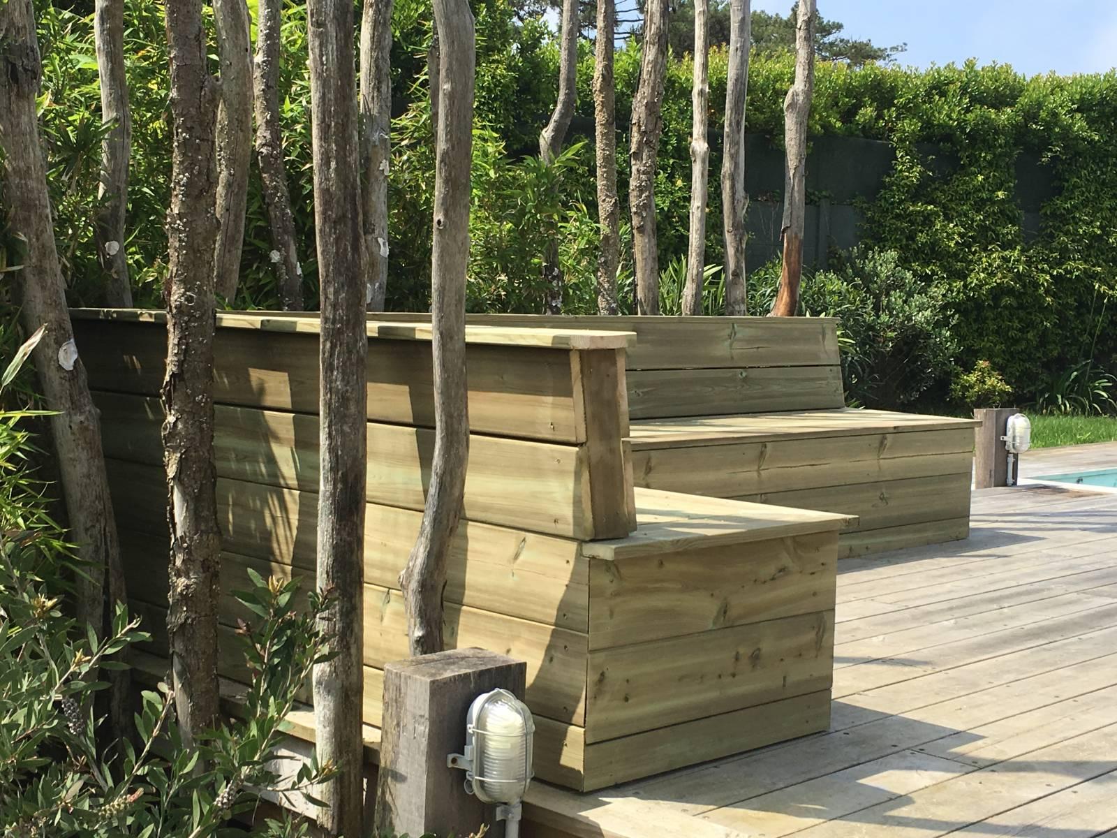 Fabrication Banc En Bois fabrication d'un banc en bois sur le cap ferret - menuiserie