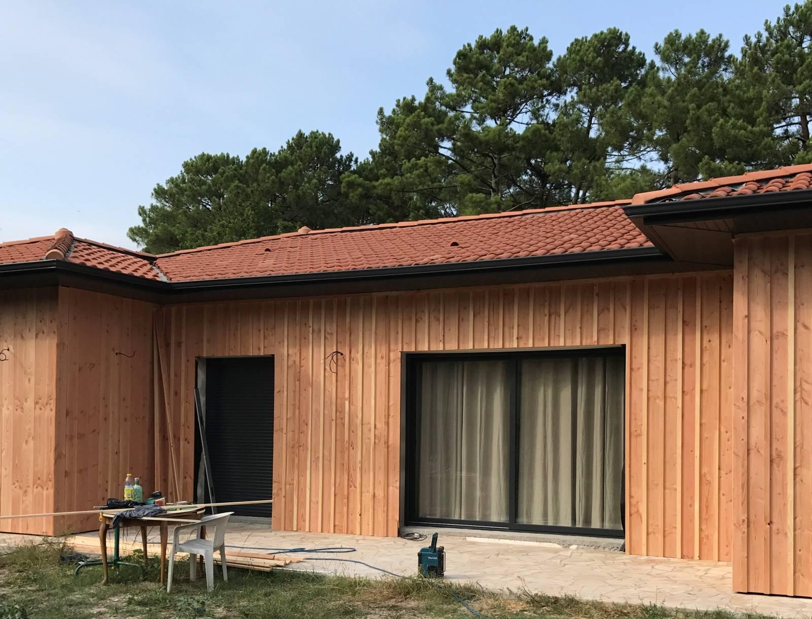 ... Rénovation Extérieure Avec Pose Du0027un Bardage En Bois   Bassin  Du0027arcachon ...