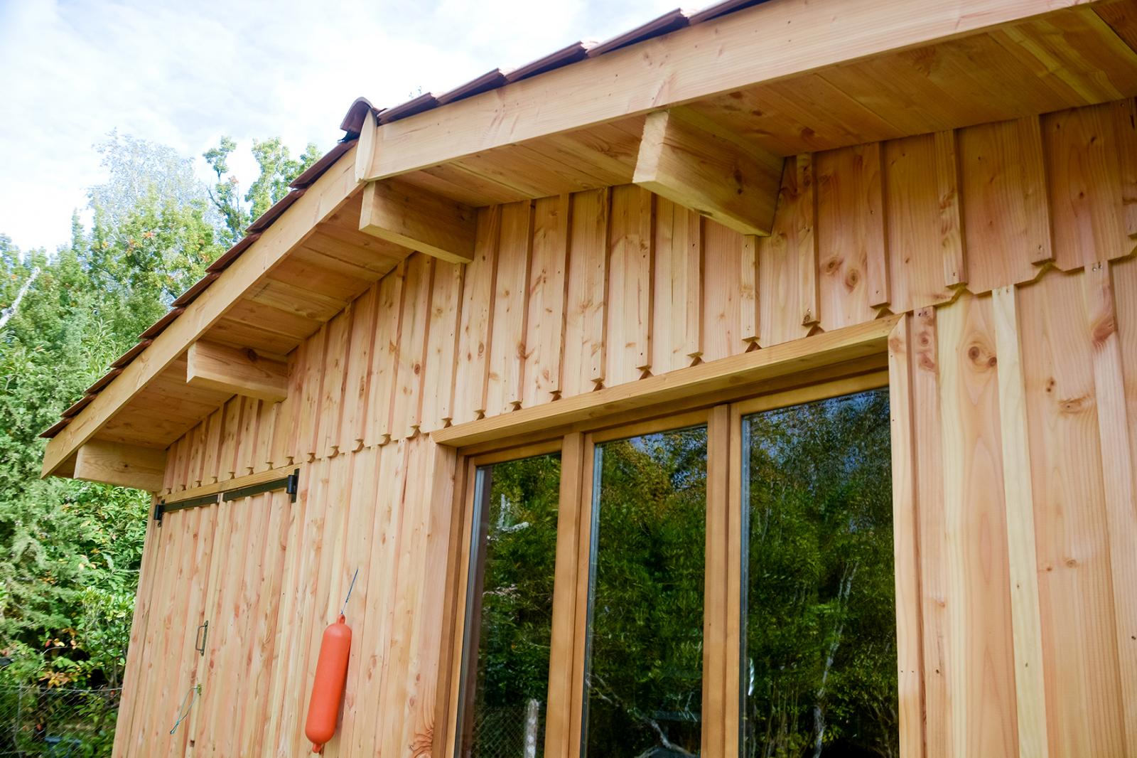 Construction garage en bois sur le porge gironde for Garage 4 fois sans frais 77